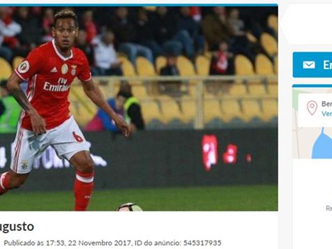 """Brasileiro do Benfica é """"colocado à venda"""" por 1 euro: """"Não funciona"""""""