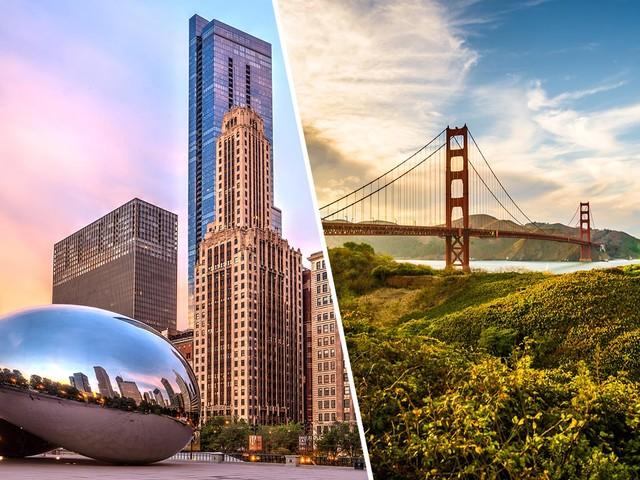 2 em 1: Chicago mais Los Angeles ou San Francisco na mesma viagem a partir de R$ 1.703 saindo de São Paulo!