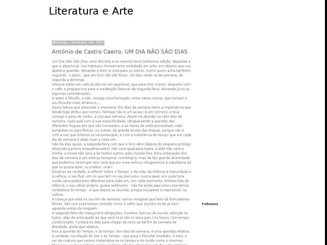 António de Castro Caeiro, UM DIA NÃO SÃO DIAS