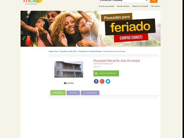 Pousada Recanto dos Arcanjos - Cachoeira Paulista - SP