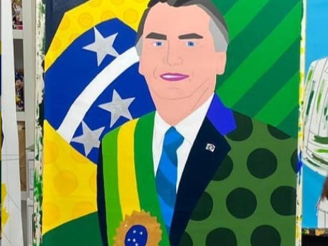 Quadro de Bolsonaro pintado por Romero Brito repercute nas redes sociais; veja reações