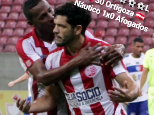 Estreante, Ortigoza sofre pênalti, faz gol, dá assistência e Náutico vence Afogados