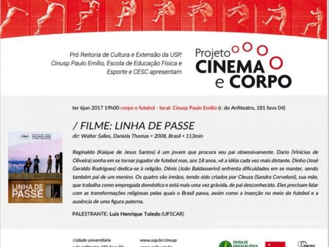 Projeto Cinema e Corpo – Exibição: Linha de Passe