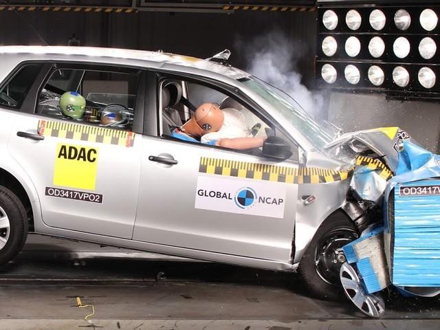 VW Polo IV ganha 3 estrelas em crash-test do Global NCAP