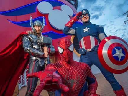 Heróis da Marvel na Disney Cruise Line!