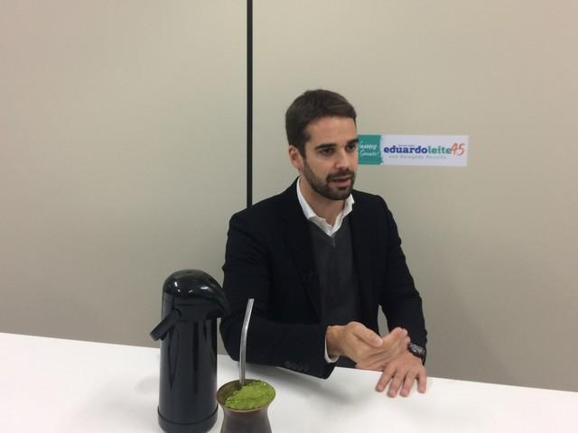 'É fundamental criar um ambiente de estímulo à nossa economia', diz candidato do PSDB ao governo do RS