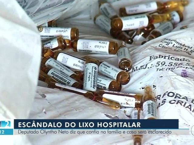 Deputado nega envolvimento no escândalo do lixo hospitalar e diz que não sabe onde o pai está
