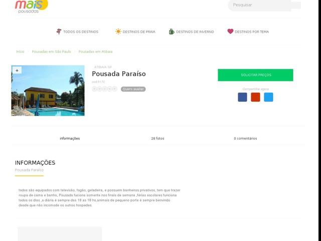 Pousada Paraíso - Atibaia - SP