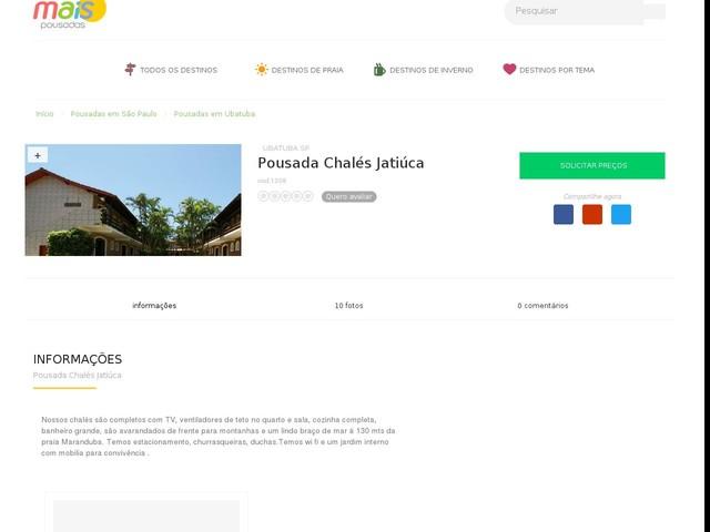 Pousada Chalés Jatiúca - Ubatuba - SP