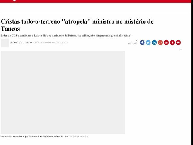 """Cristas todo-o-terreno """"atropela"""" ministro no mistério de Tancos"""