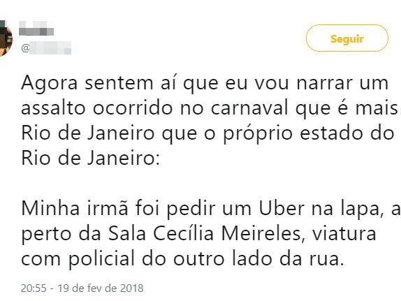 Só mais um dia comum no Rio de Janeiro