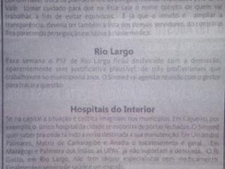 Relatório aponta situação caótica nos Hospitais do interior Alagoano