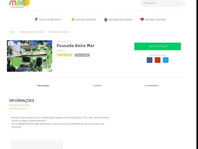 Pousada Beira Mar - Santos - SP