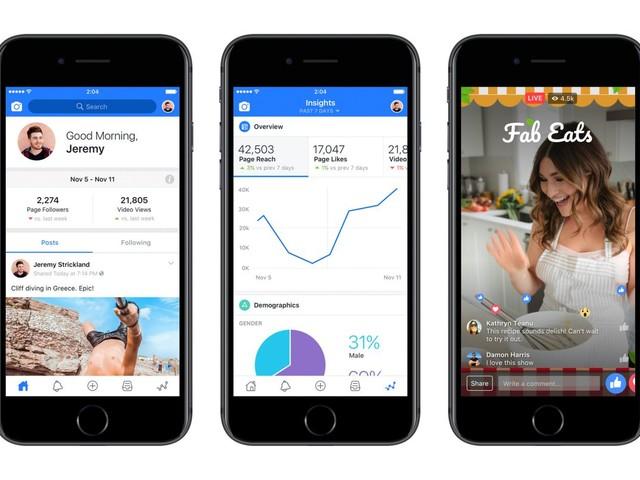 Facebook lança aplicativo para criadores de conteúdo
