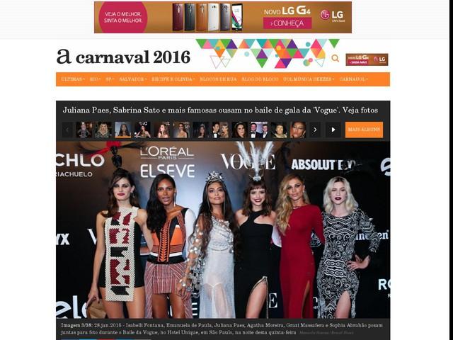 """Juliana Paes, Sabrina Sato e mais famosas ousam no baile de gala da """"Vogue"""""""