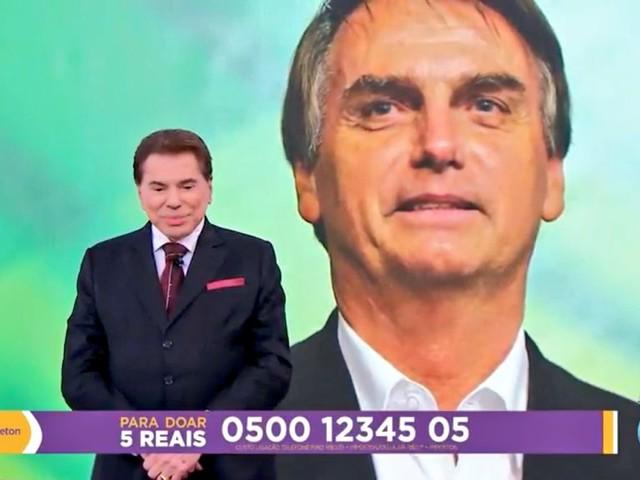 Bolsonaro liga para Silvio Santos em pleno Teleton, apresentador se desmancha em elogios e faz previsão