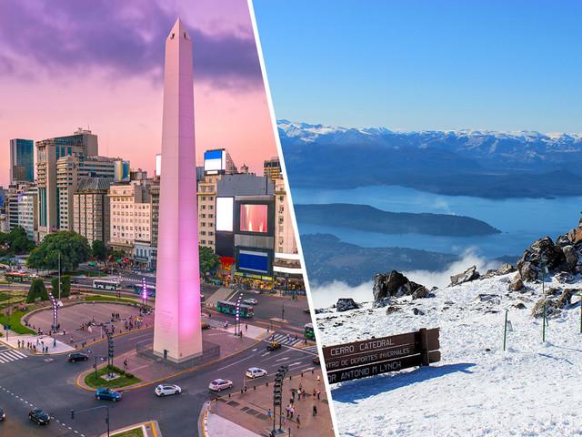 Passagens 2 em 1 para Bariloche e Buenos Aires na mesma viagem a partir de R$ 1.296 saindo de São Paulo e mais cidades!