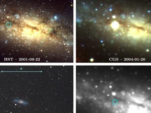Aficionado descubre supernova de hace 14 años