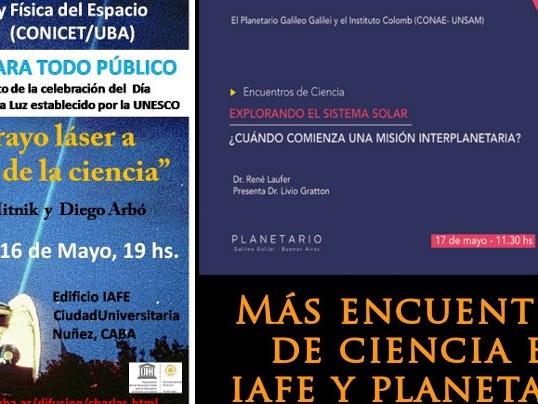 Encuentros de ciencia en IAFE y Planetario