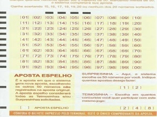 Palpites Lotomania 1779 acumulada R$ 2,2 milhões
