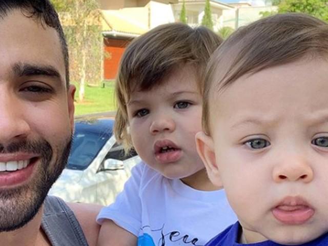 """Gusttavo Lima se derrete por filho cantando sua música: """"Zerei a vida"""""""