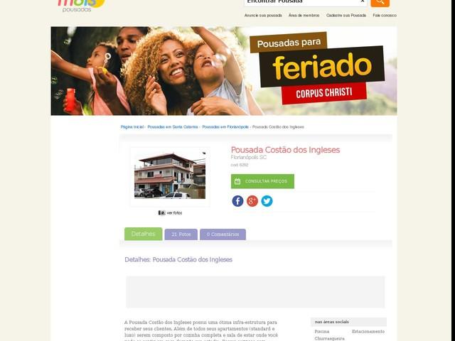 Pousada Costão dos Ingleses - Florianópolis - SC