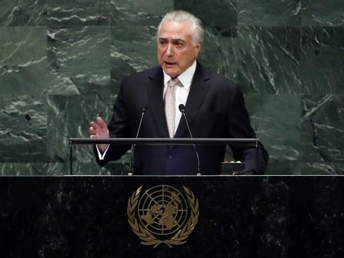 Na ONU, Temer diz que entrega país melhor do que encontrou