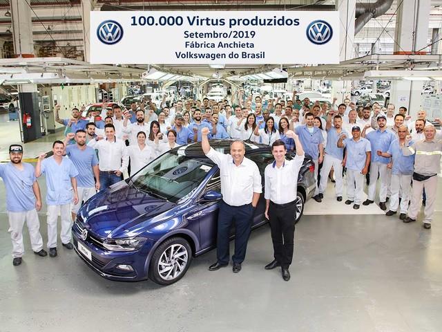 [Mercado] Volkswagen comemora marca de 100 mil Virtus fabricados
