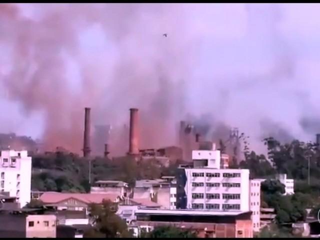 Explosão é registrada na Usiminas e usina é evacuada em Ipatinga