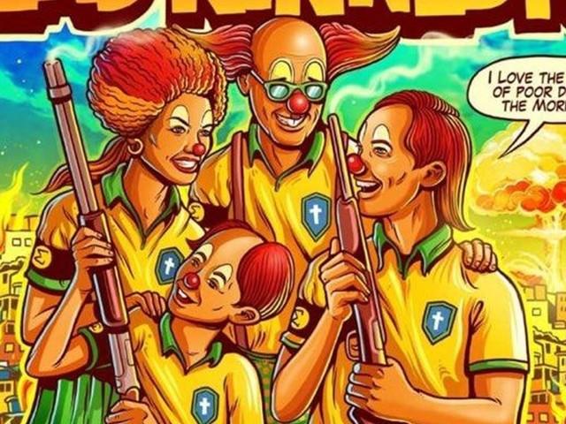 Banda americana critica governo Bolsonaro em cartaz de turnê pelo Brasil