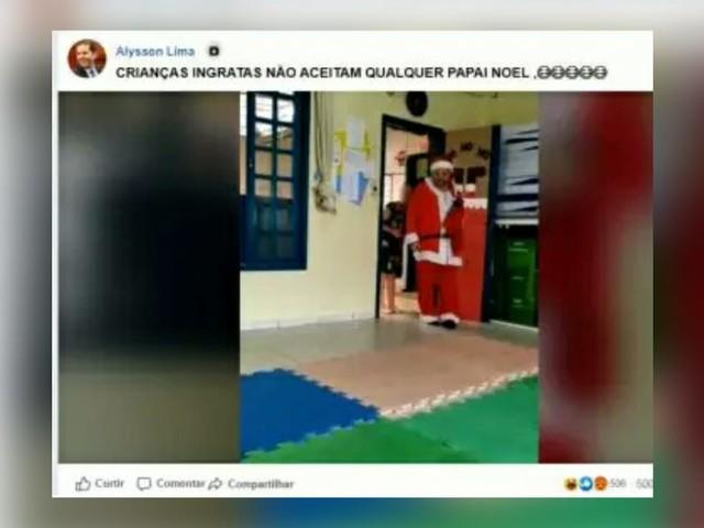 Deputado debocha de deficiente que se vestiu de Papai Noel para visitar escola