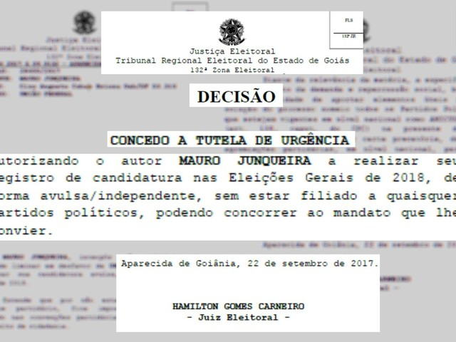 Juiz de Goiás autoriza advogado a se candidatar nas próximas eleições sem se filiar a partido político
