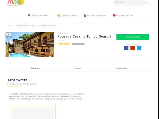 Pousada Casa no Tombo Guarujá - Guarujá - SP