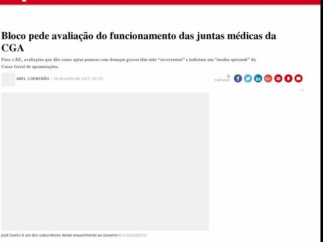 Bloco pede avaliação do funcionamento das juntas médicas da CGA