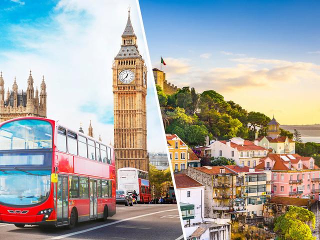 Inglaterra + Portugal! Passagens para Londres com Lisboa ou Porto na mesma viagem a partir de R$ 1.761!