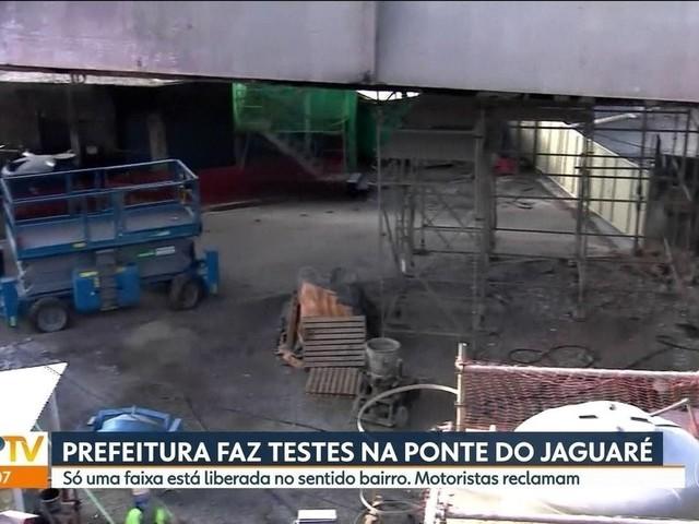 Interdições na Ponte do Jaguaré complicam o trânsito na manhã desta terça