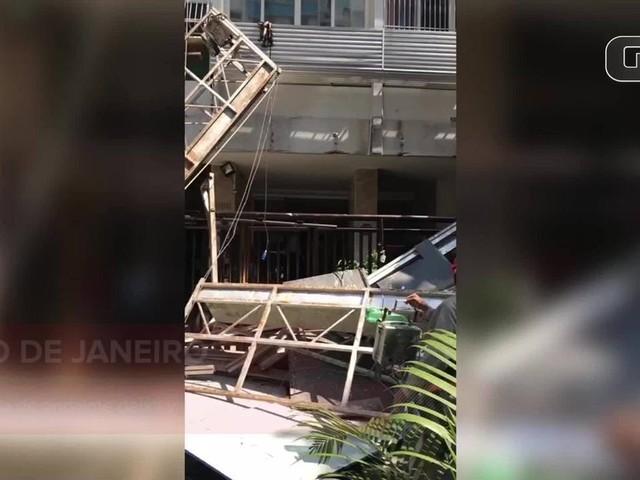 Queda de andaime deixa vítimas no Leblon, Rio