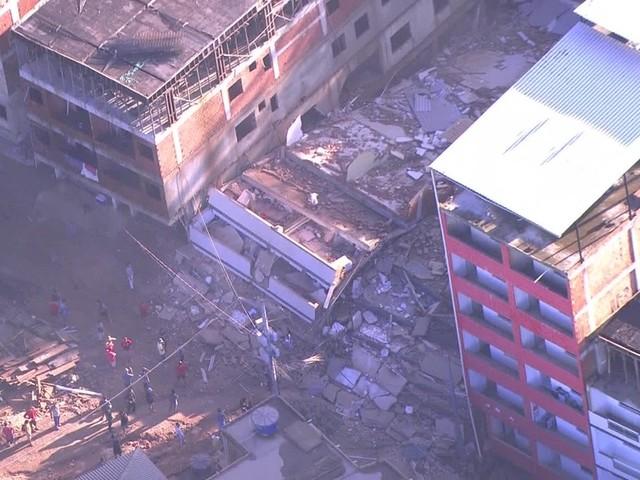 Desabamento de prédios no Rio; FOTOS