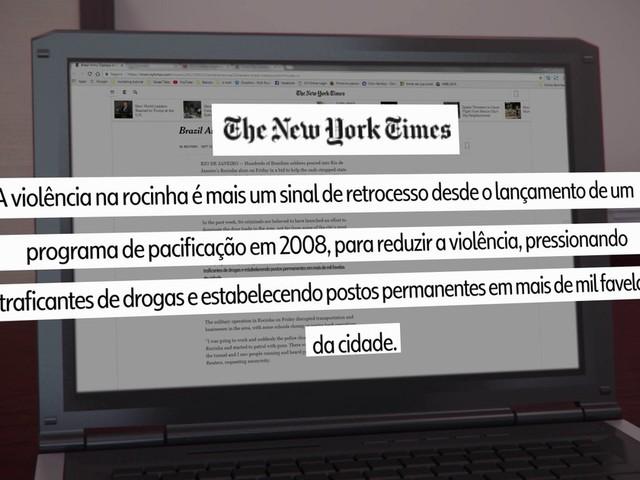 Confronto em favela no Rio é destaque na imprensa internacional