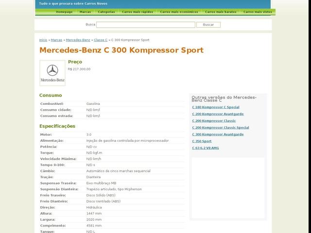 Mercedes-Benz C 300 Kompressor Sport