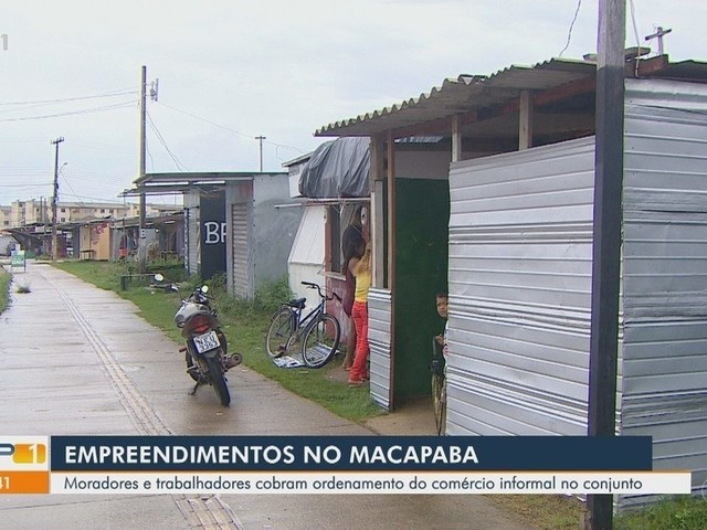 Conjunto Macapaba, no AP, tem desordem de empreendimentos que ocupam passeio público