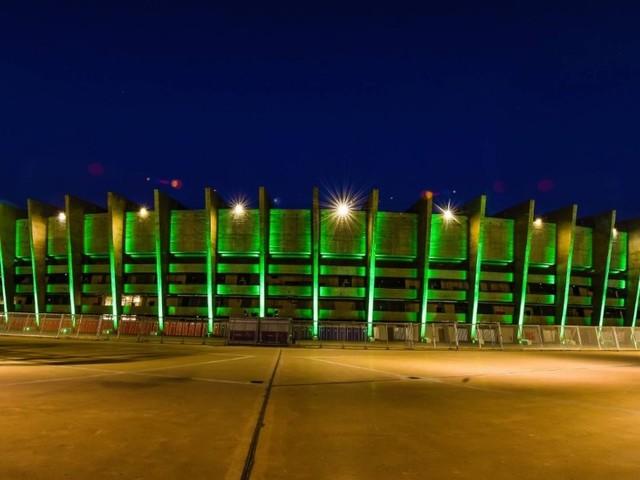 Mineirão é iluminado em verde em prol da preservação da Floresta Amazônica