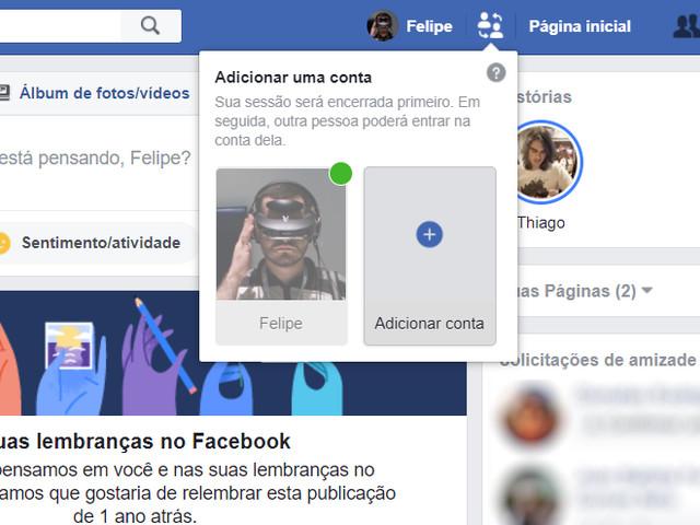 Facebook ganha recurso para alternar entre perfis no mesmo computador