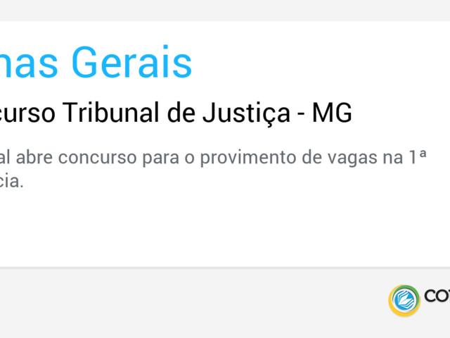 Concurso Tribunal de Justiça - MG
