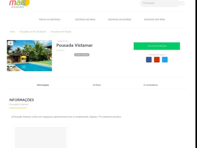 Pousada Vistamar - Paraty - RJ