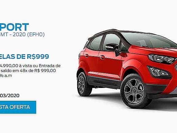 [Ofertas Ford] EcoSport FreeStyle é ofertado por R$ 74.990