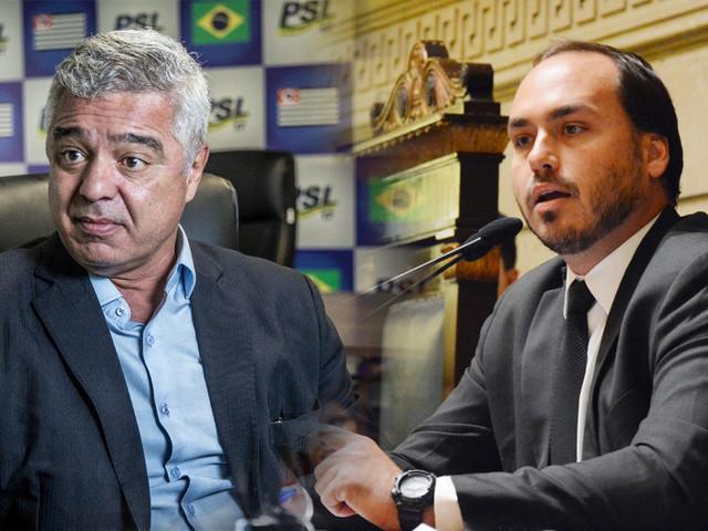A guerra entre Carlos Bolsonaro e Major Olímpio