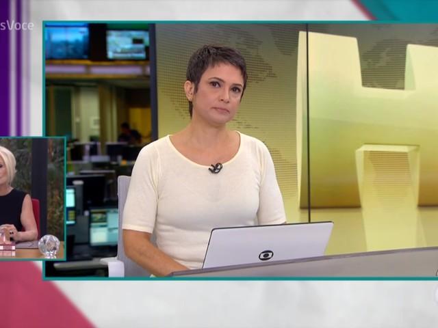 Emocionada, Sandra Annenberg desabafa sobre morte de Ricardo Boechat ao vivo