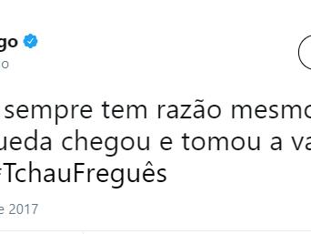 """Fla provoca Jair: """"Não é que o Rueda chegou e tomou a vaga dele mesmo?"""""""