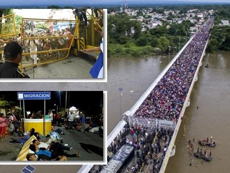 Famintos, hondurenhos marcham rumo aos EUA em busca de emprego e segurança
